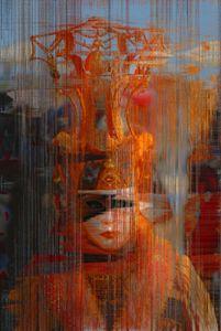 Orange Sunrise Mask