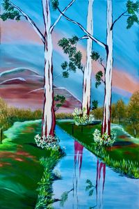 Reflection of the Great Whites - Kim Karen's Gallery