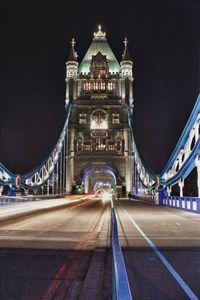 Night time on the bridge