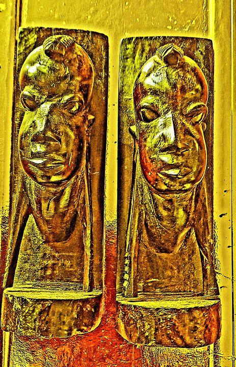 Ashante  Gold Sculpture - CHIEF GIFT KOFI AMU - LOGOTSE @TAAC