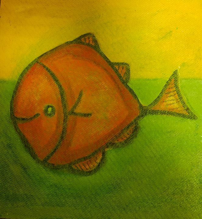 Greenish Orange Fish - The African Arts Centre