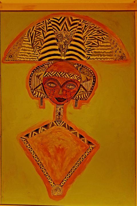 The orange Bakota Doll - The African Arts Centre