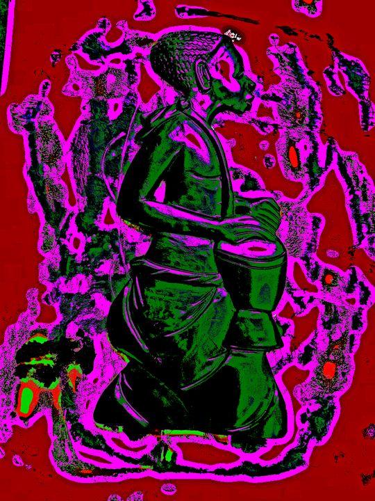 Green Drummer Boy - The African Arts Centre