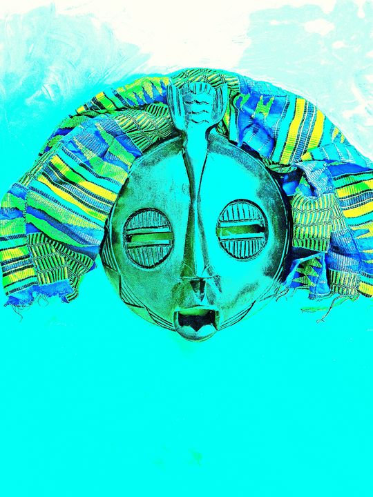 Cool Blue Mask - The African Arts Centre