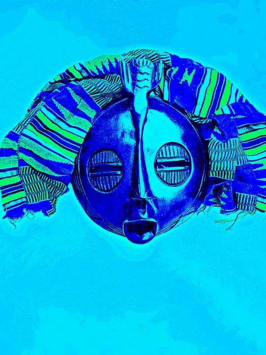 Deep Blue Face - The African Arts Centre