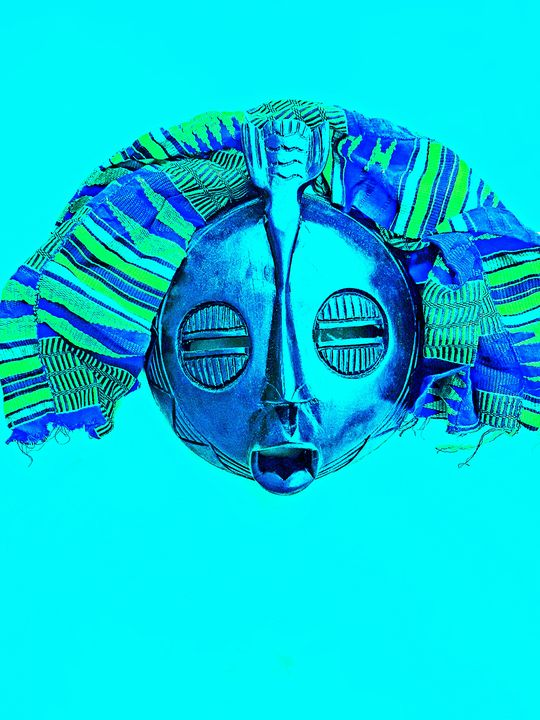 Agooh Blue Mask - The African Arts Centre