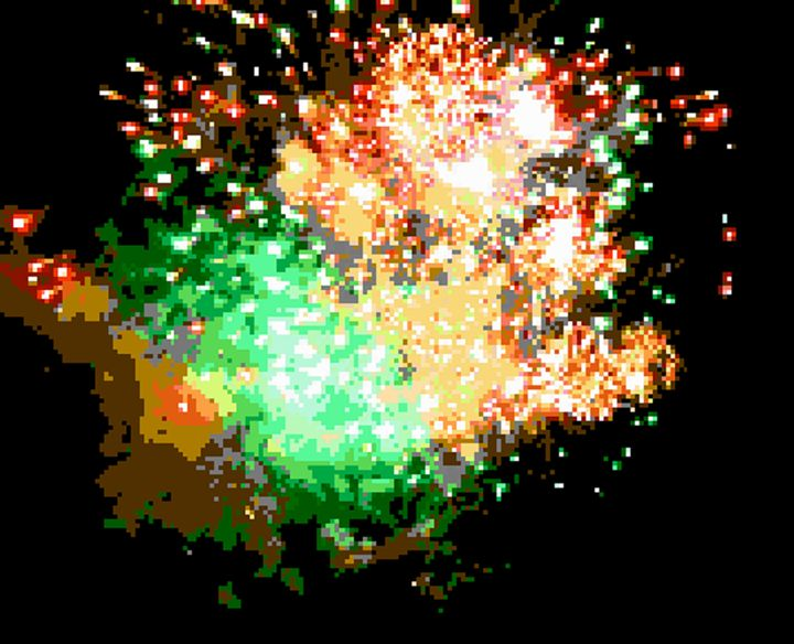 Firework Flashes - Art by Alec
