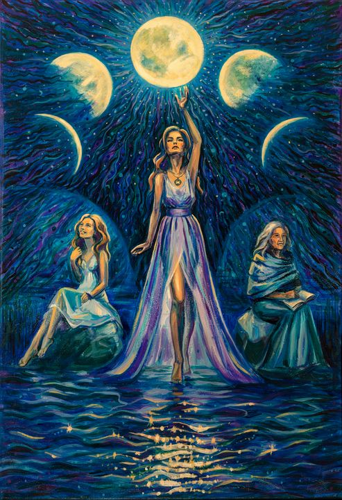 The Three Faces of the Moon Goddess - Energy ART