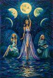 original blue-blue painting with thr