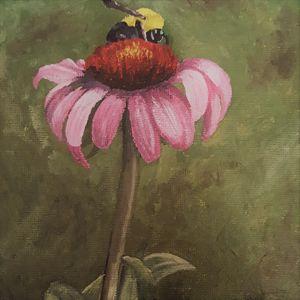 Daisy and the Bee - Amanda Lage Artworks