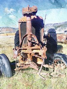 Vintage Tractor - Lisa R. Veneziano / Digital Farmworx