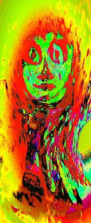 Fire girl. - Kingsart.