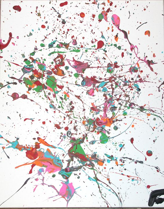 Confetti #2 - Splatter Art from Branden Fisher