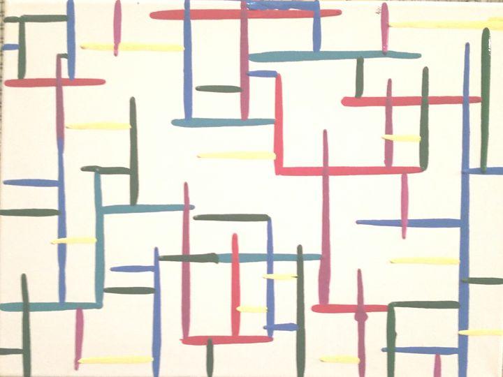 Bismuth Stairway - Splatter Art from Branden Fisher