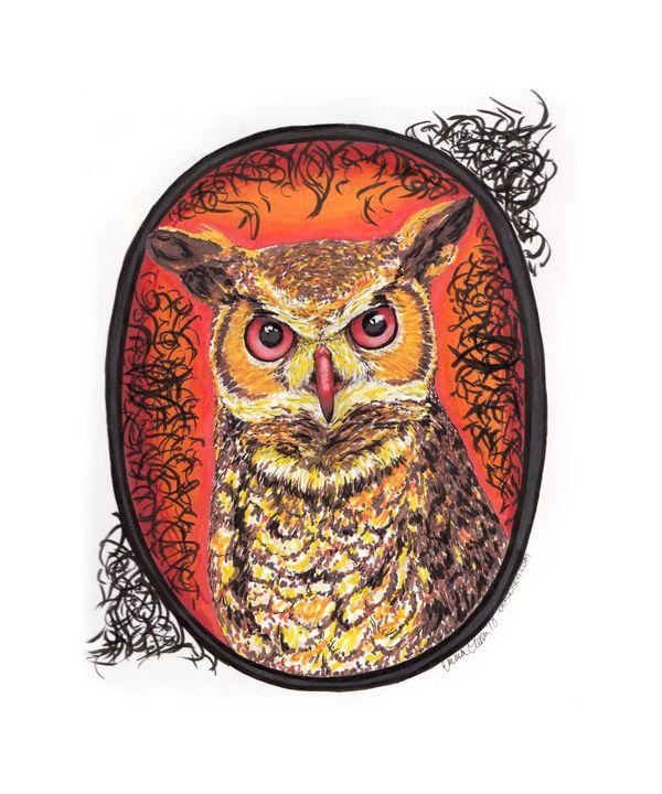 Horned Owl - Emma Olsen's Art