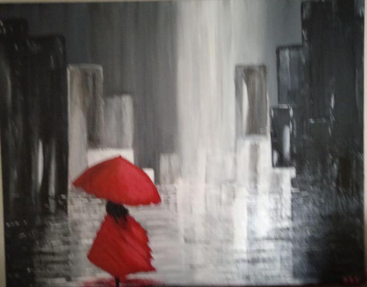 Girl in the City Raain - David's Art