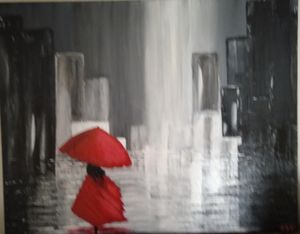 Girl in the City Raain - David's Art