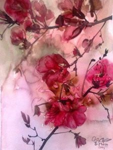 Pink Flowers 6 - Sana Mosa