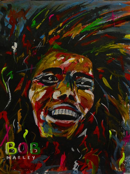 BoB Marley on Canvas - SK art