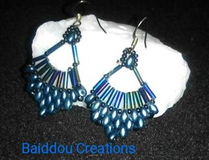 Blue Thunder Earrings
