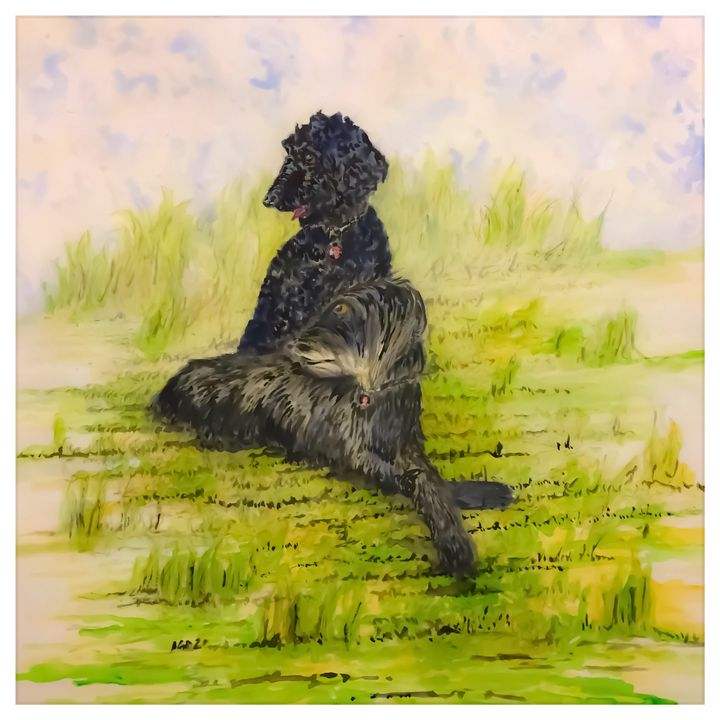 Bonnie and Guinness Watercolour - Gerard Dourado's Watercolours and Sketches