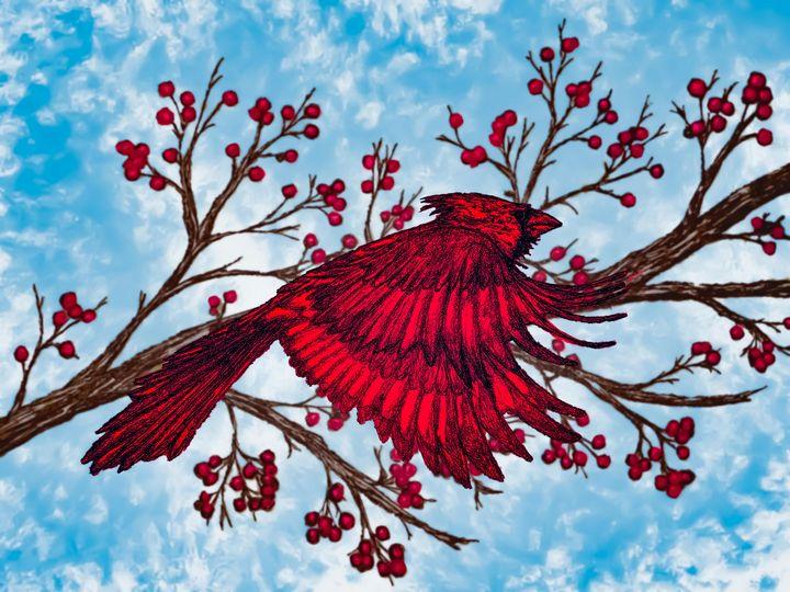 The Cardinal - Gerard Dourado's Watercolours and Sketches