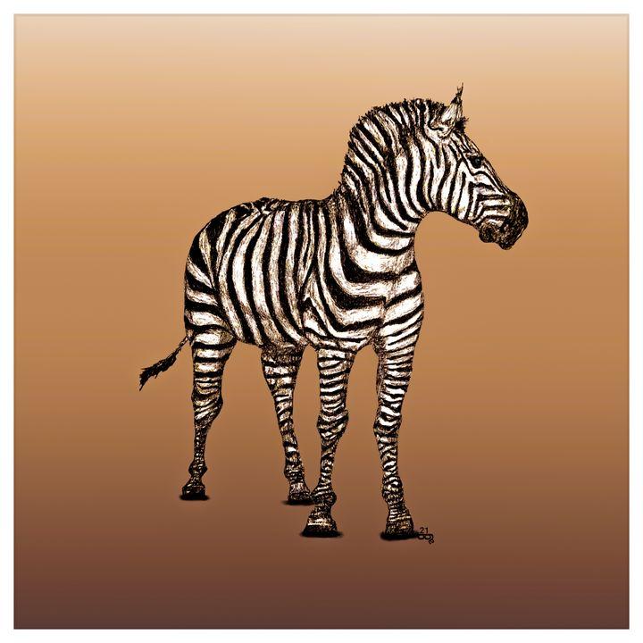 Z is for Zebra - Gerard Dourado's Watercolours and Sketches