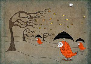Giclee art print ''Windy day'