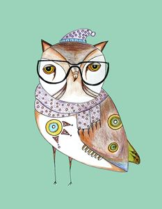 Art Print ''Fancy Owl''