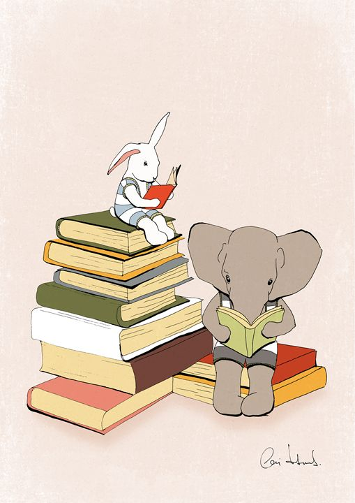 Nursery art print 'Reading is good' - Artollo - wall art, giclee art prints and posters