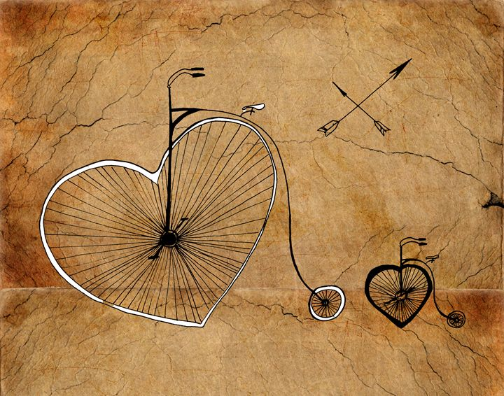 Art print ''Love wheels'' - Artollo - wall art, giclee art prints and posters