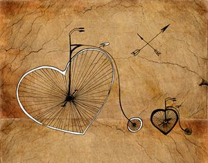 Art print ''Love wheels''