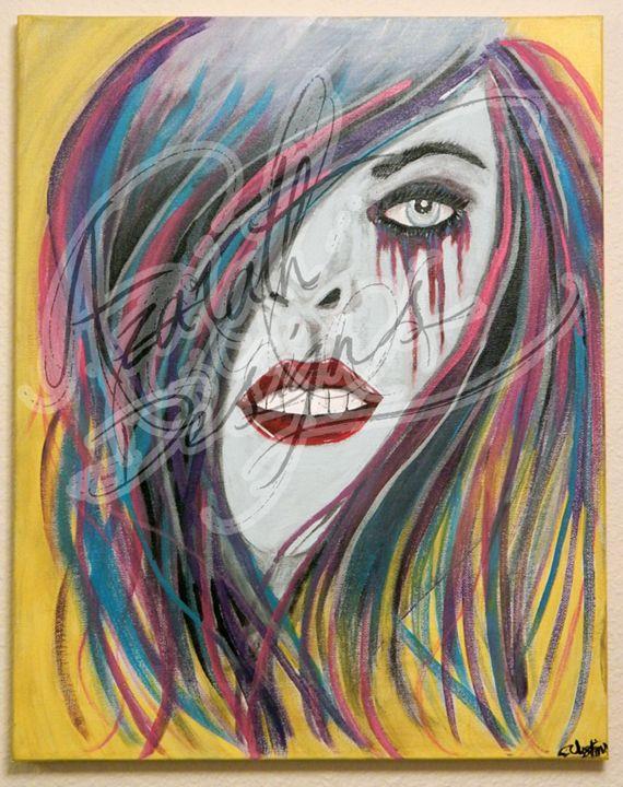 She bleeds creativity - Azarath Designs-The art of Justin Terrell