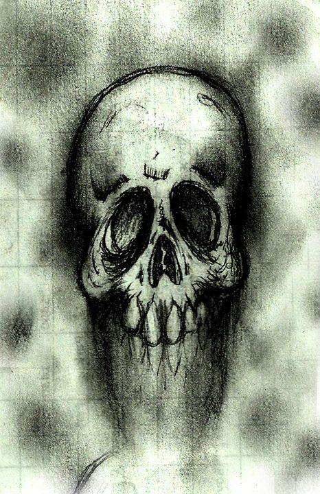 The skull fades - Azarath Designs-The art of Justin Terrell