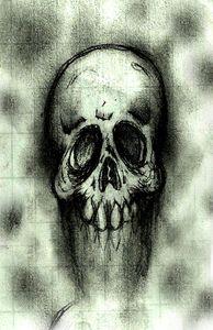 The skull fades