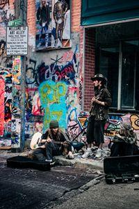 Musicians Art Alley Photo Print
