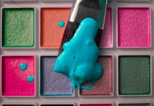 Neon Paint Splatter Prints