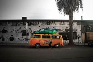 Venice Beach Van Photography print