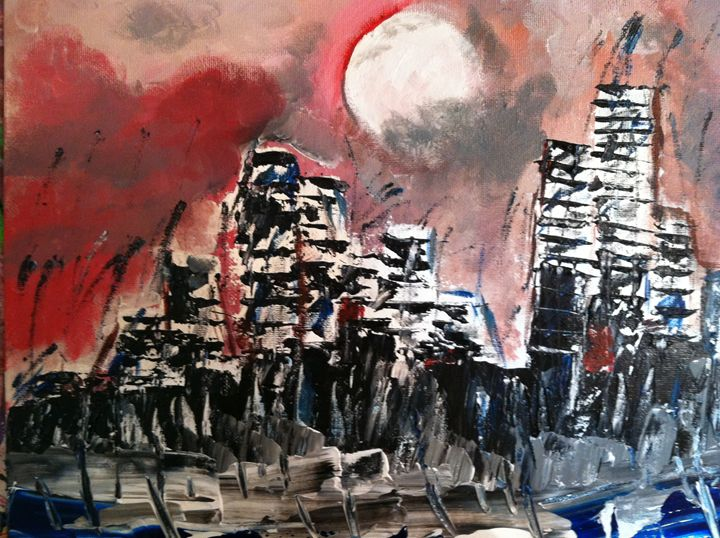 """No.80 """"Stormy Night in the City"""" - TutoneArt"""