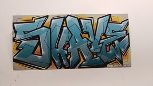 Shave Graffiti Sticker
