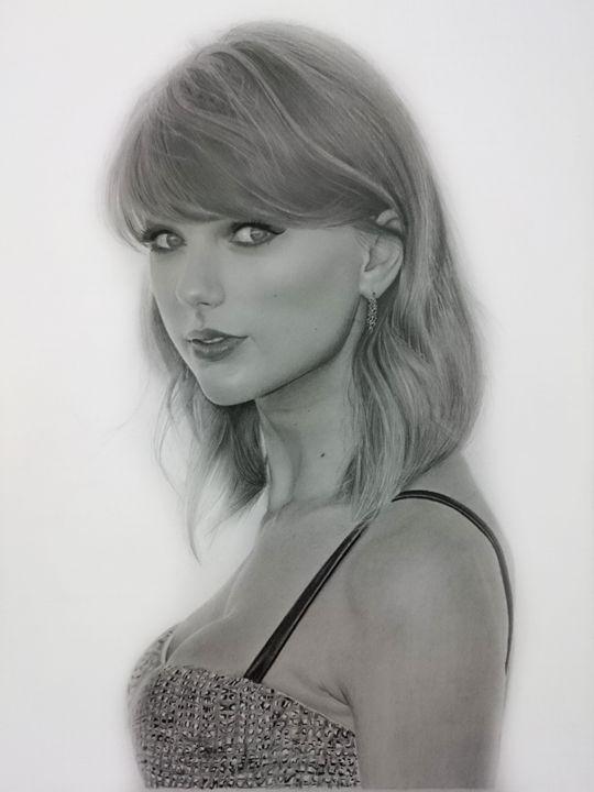 Taylor Swift Pencil Drawing - wijisung.art