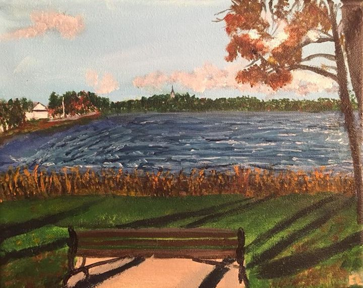 Painterly View of Lake Q - Lizzy's Art