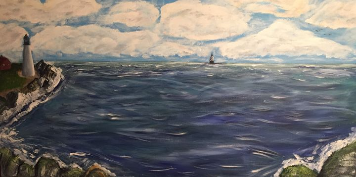 Two Lighthouses - Lizzy's Art