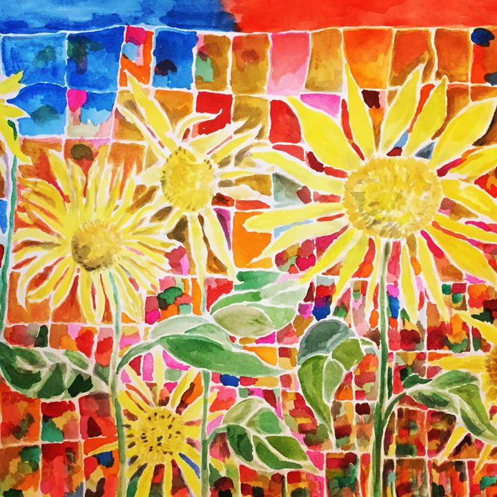 Sunflowers Along The Fence Line - Ruthie Sepeda