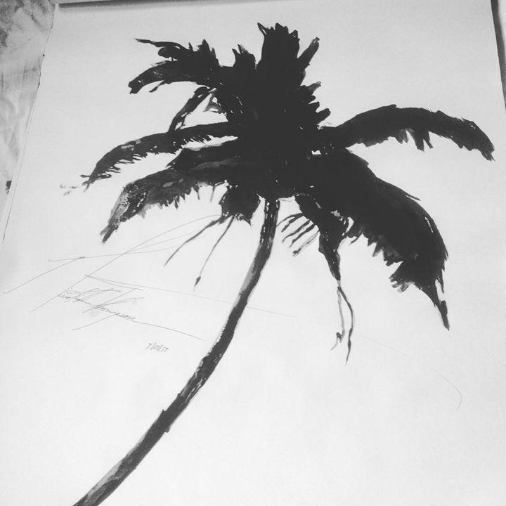 Tropical Palm Tree - LOVE Art Wonders (NickysArt)