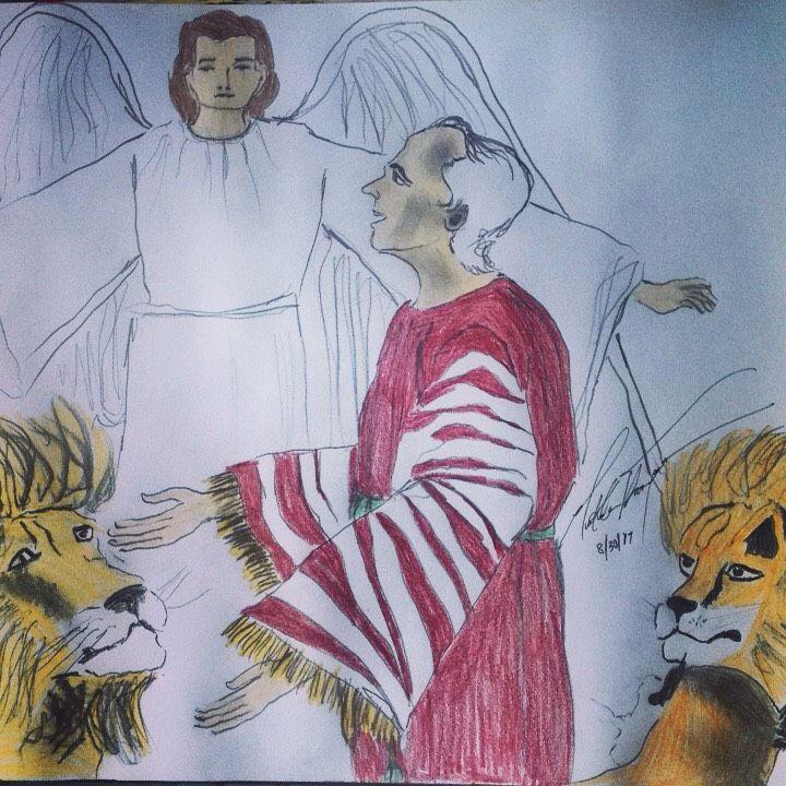 Daniel and the Lion's Den - LOVE Art Wonders (NickysArt)