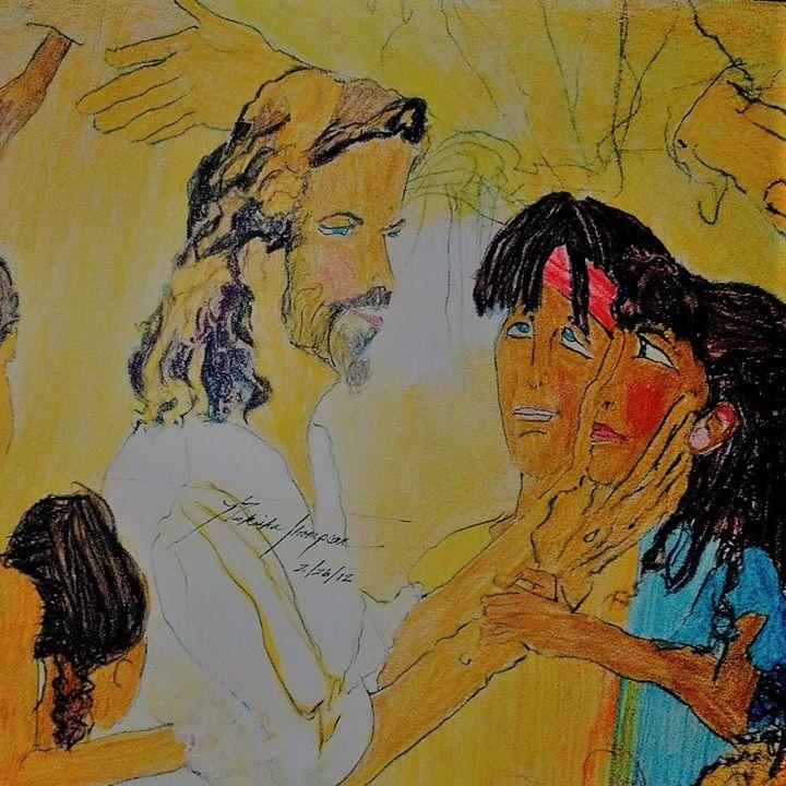 Jesus and his children - LOVE Art Wonders (NickysArt)