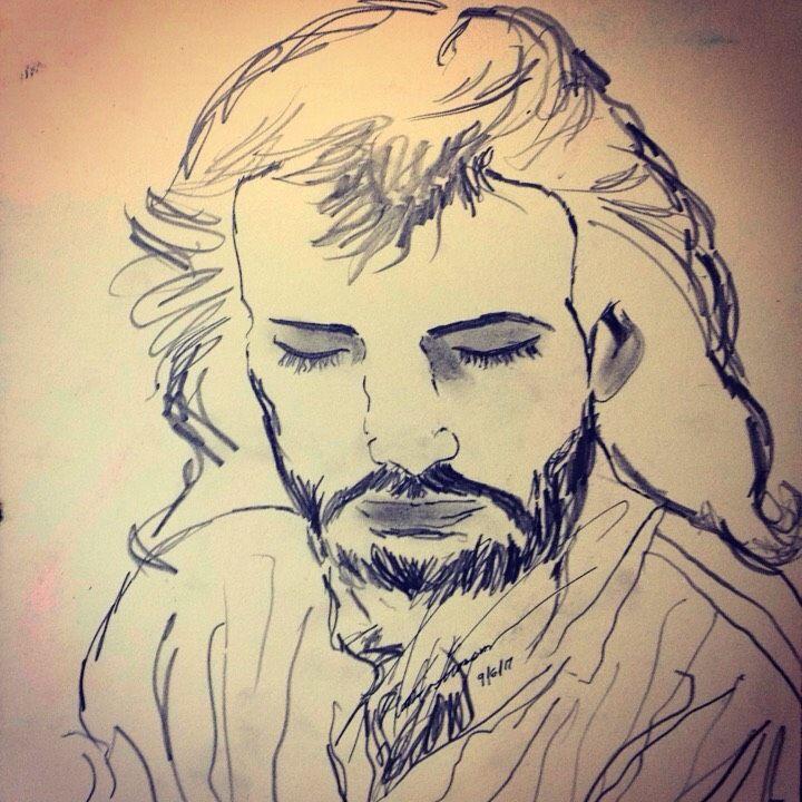 Jesus Upclose - LOVE Art Wonders (NickysArt)