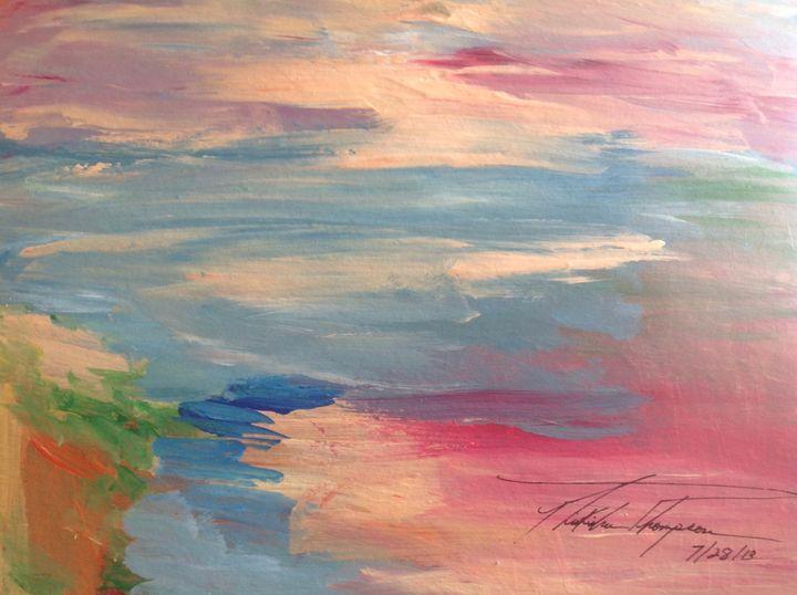 Pink Sunset Sky - LOVE Art Wonders (NickysArt)