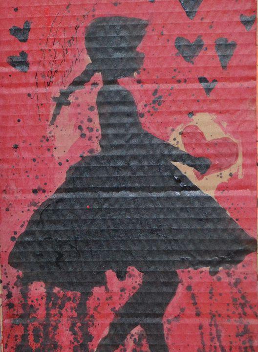 Little Girl Enjoys Love - LOVE Art Wonders (NickysArt)